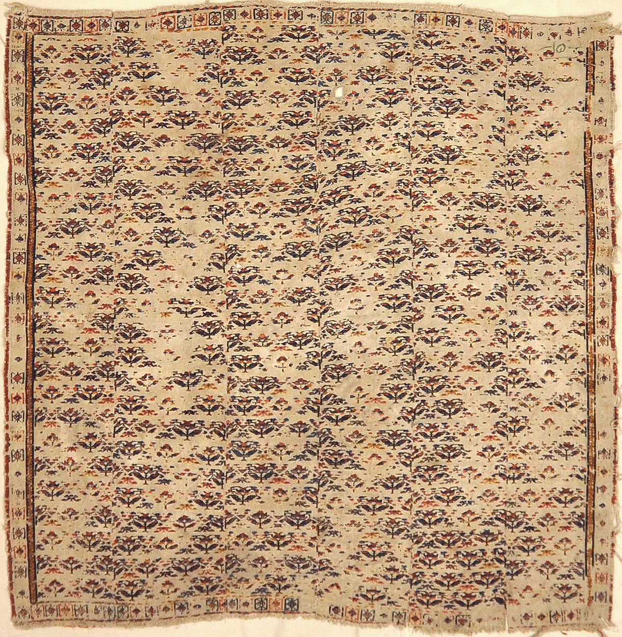 Fine Antique Soumak Rug. A piece of genuine authentic antique woven carpet art sold by Santa Barbara Design Center Rugs and More.