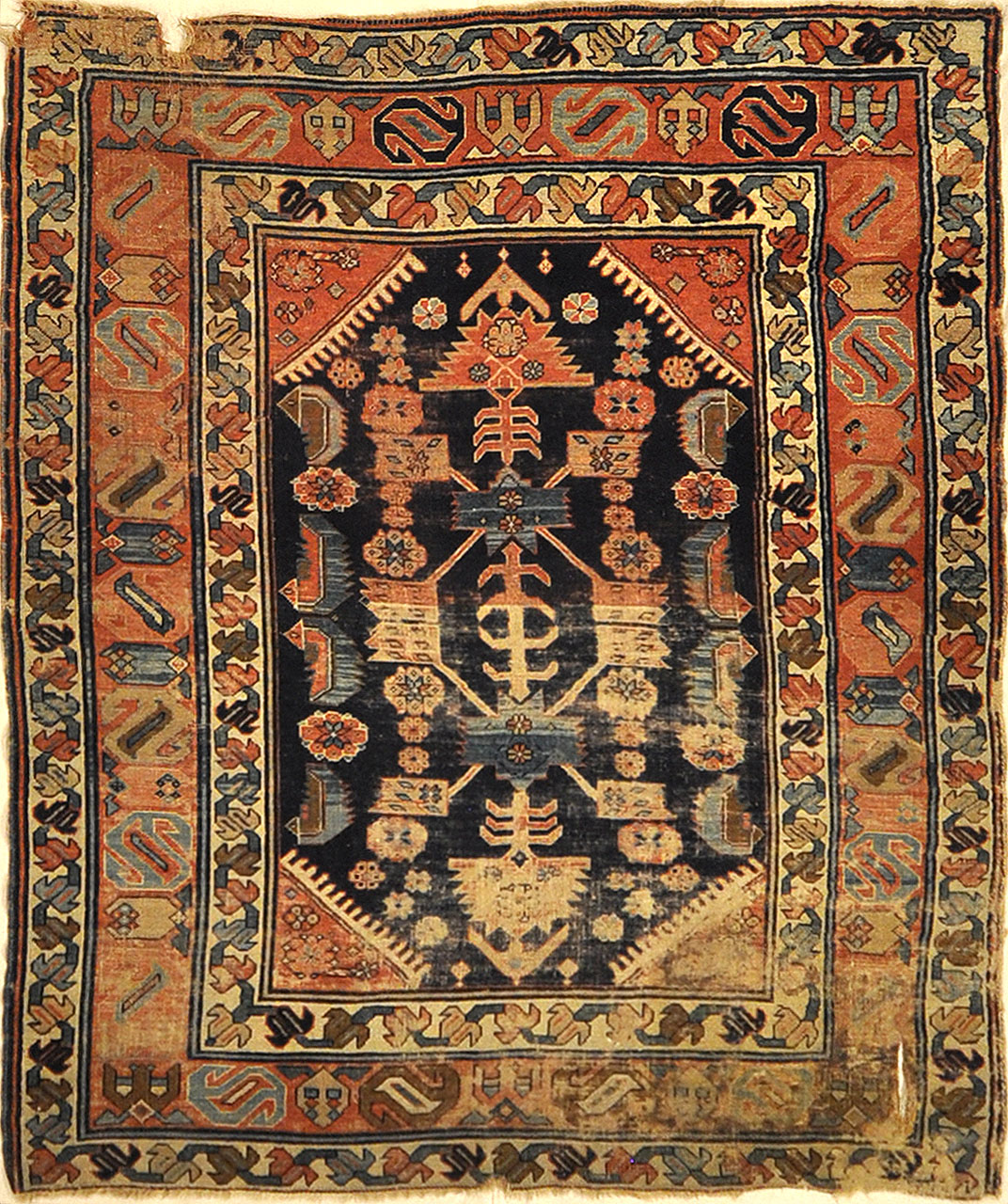 Antique Proto Kurdish Rug Early 19th Century. A piece of genuine authentic woven carpet art sold by Santa Barbara Design Center Rugs and More.