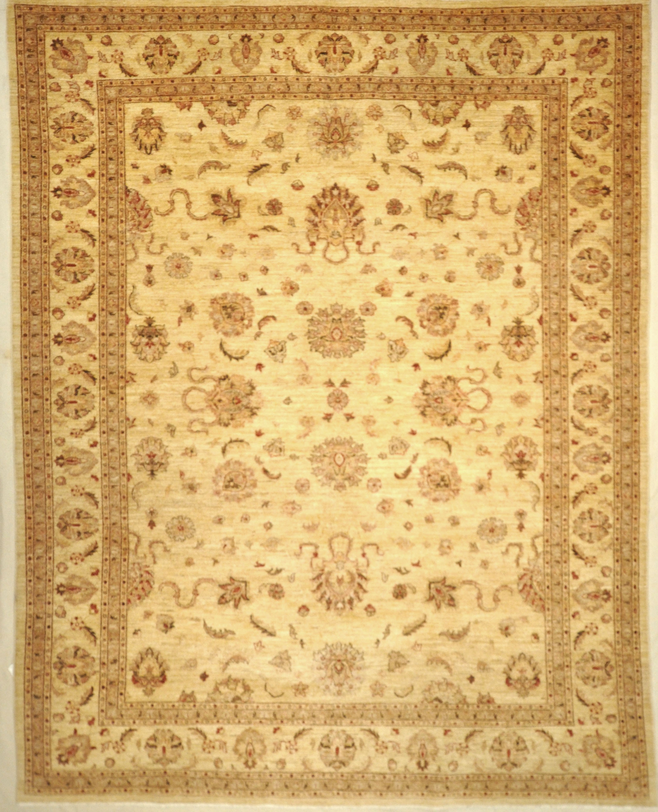 Ziegler and Company Oushak Rug are designed by Michael Kourosh and woven by Ziegler & Company. Sold by Santa Barbara Design Center, Rugs and More.