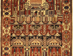 Fine Antique Shirvan Rug. A piece of genuine authentic antique woven carpet art sold by Santa Barbara Design Center, Rugs and More.