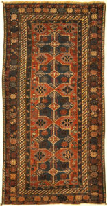 Fine Antique Shirvan Woven by an Armenian Girl. A piece of genuine authentic woven carpet art sold by the Santa Barbara Design Center Rugs and More.
