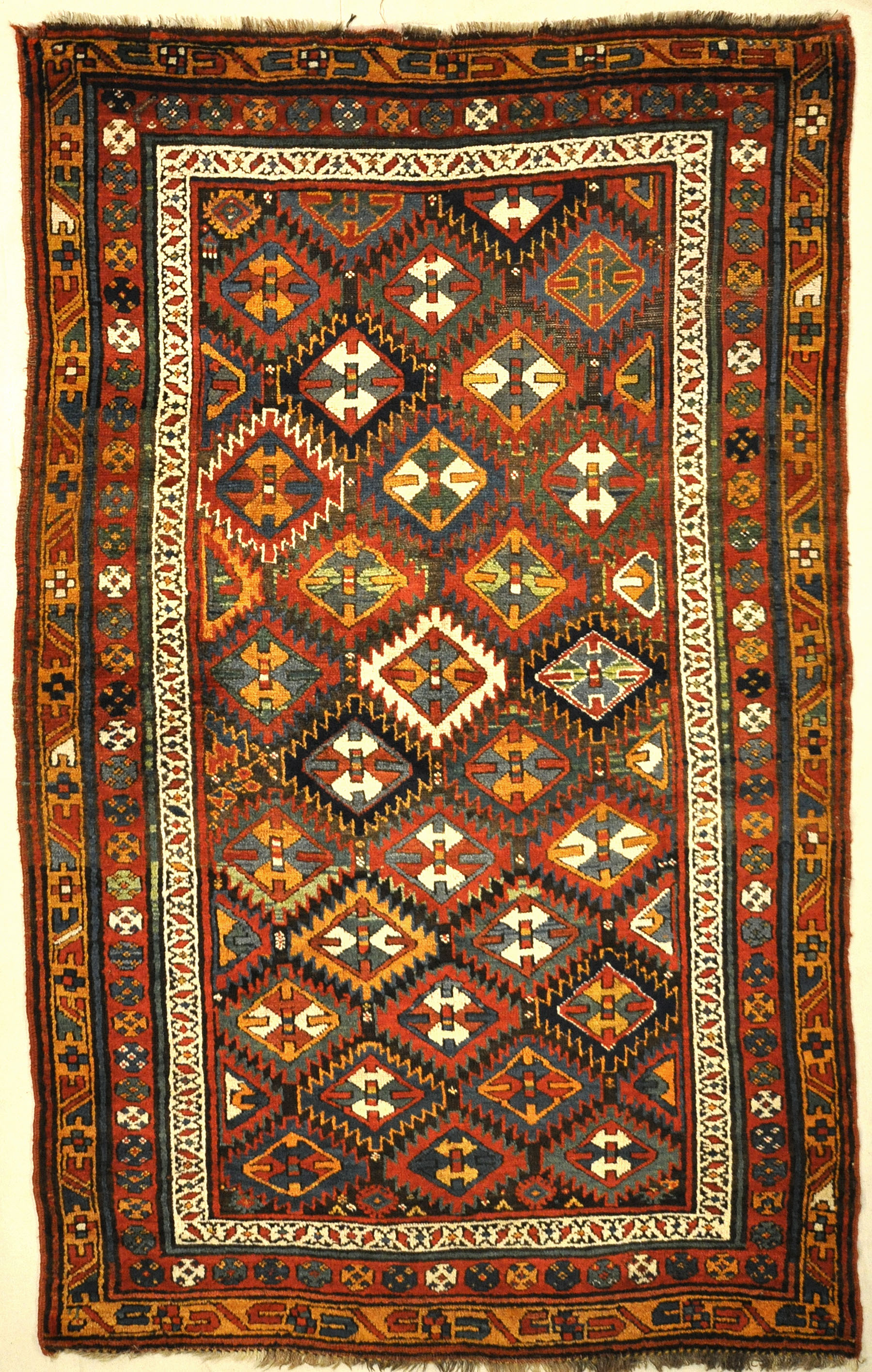 Rare Antique Shasavan Sojbolagh Rug. A piece of genuine authentic unique woven carpet art sold by the Santa Barbara Design Center, Rugs and More.