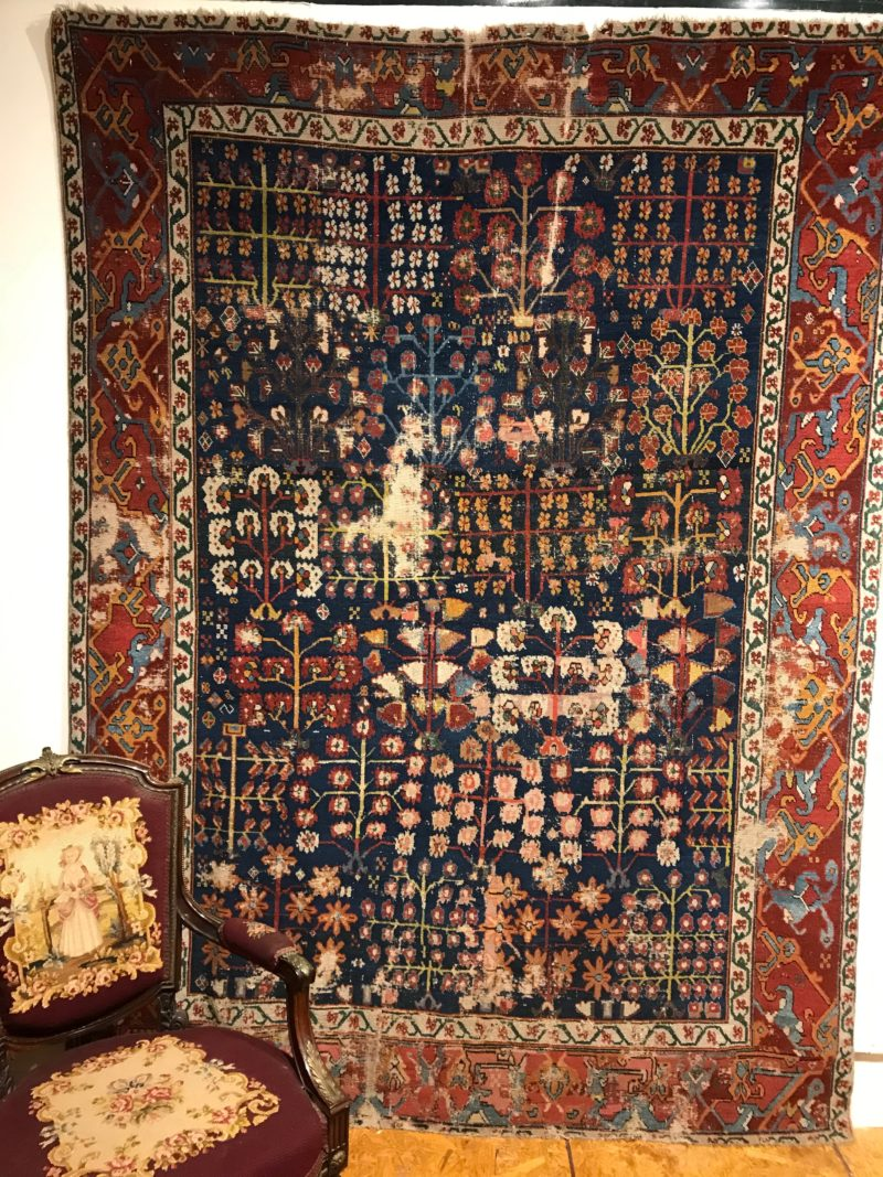 Antique Kurdish Shrub Rug Circa 17th Century