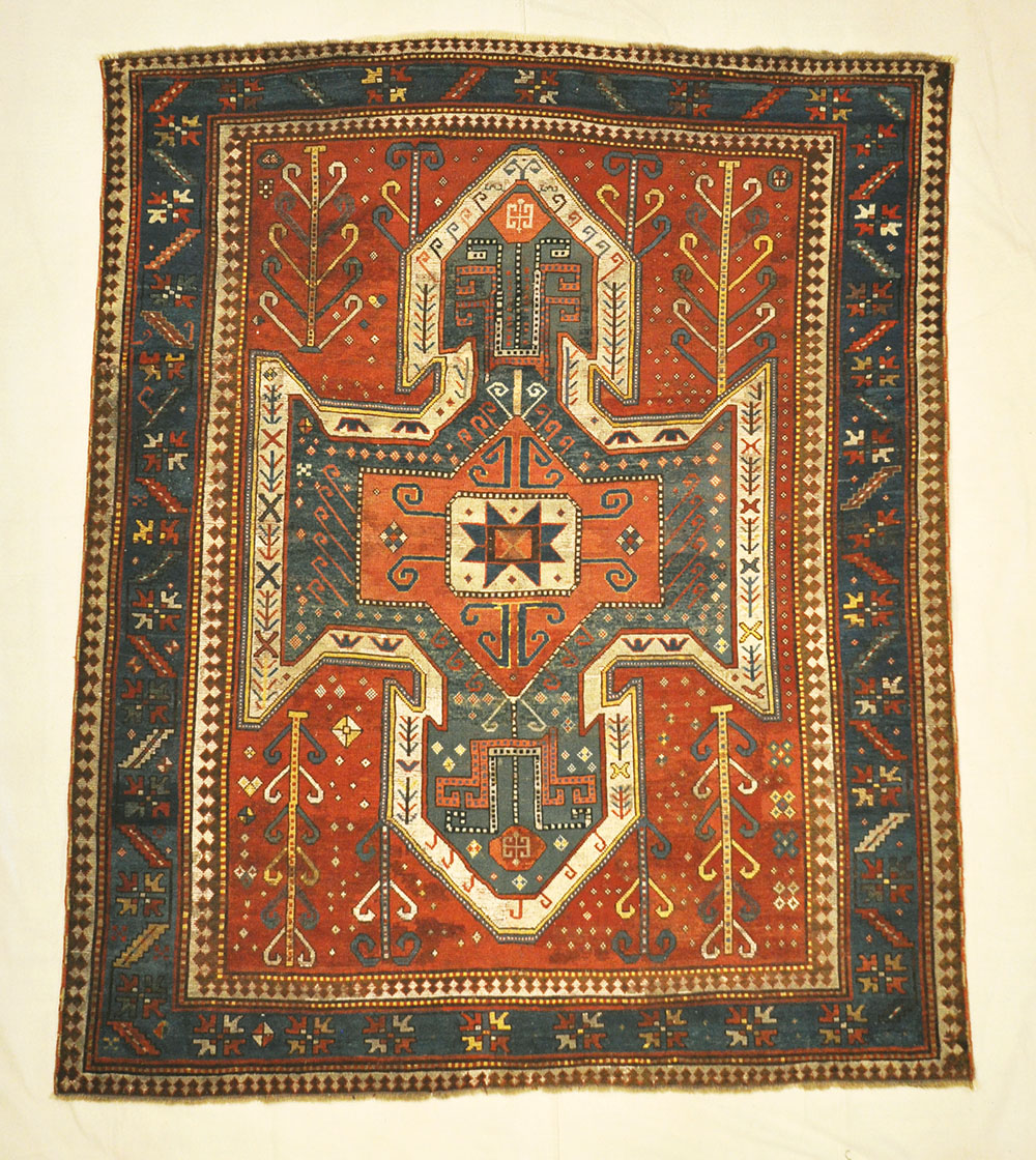 Antique Sewan Kazak Woven CA 1860 santa barbara design center rugs and more oriental carpet