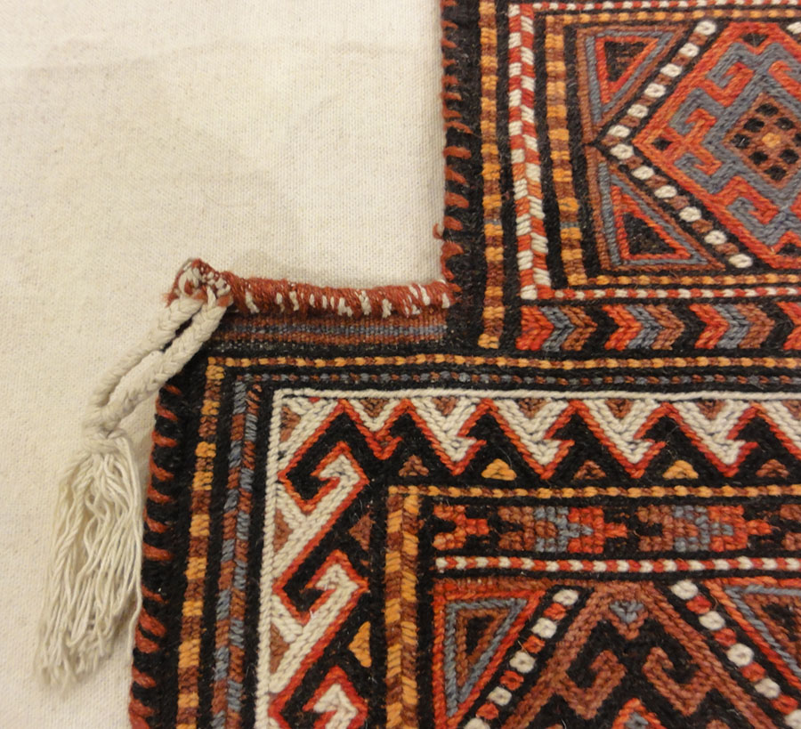 Antique Shahsavan Salt Bag. A piece of antique woven carpet art sold by Santa Barbara Design Center, Rugs and More in Santa Barbara, California.