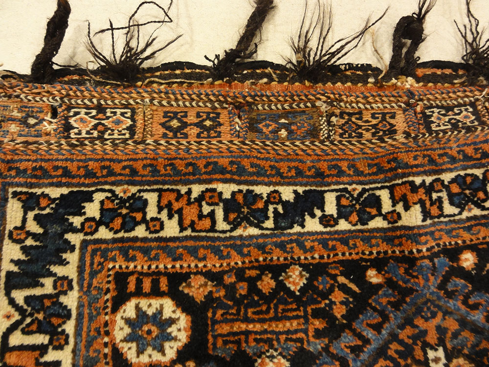 Antique Afshar Bag Circa 1880 Perfect Condition. A piece of genuine authentic antique woven carpet art sold by Santa Barbara Design Center Rugs and More