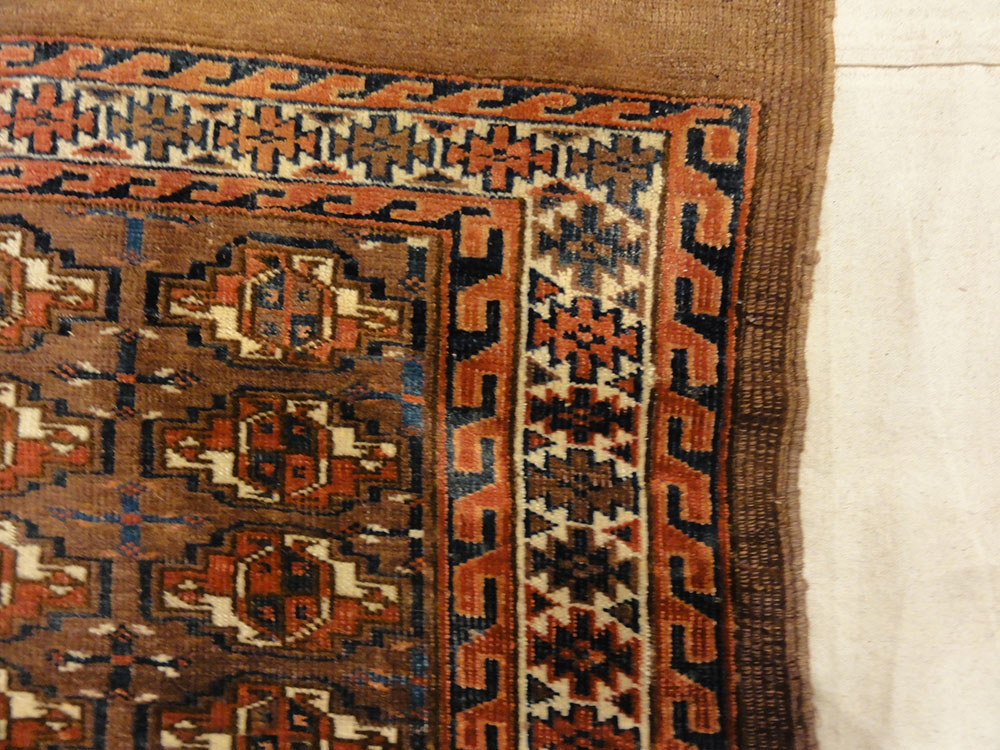 Antique Yomud Chuval Bagface from Turkestan. A piece of genuine authentic woven carpet art sold by Santa Barbara Design Center, Rugs and More.