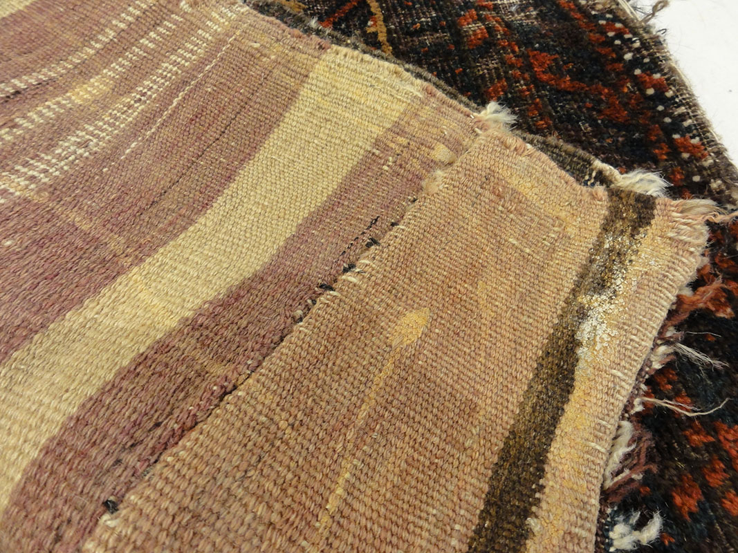 Antique Camel Hair Afghanistan Beluch. A piece of antique woven carpet art sold by Santa Barbara Design Center Rugs and More in Santa Barbara, California.
