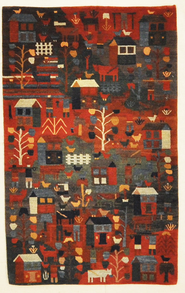 Tibetan Village rugs and more oriental carpet 45329-