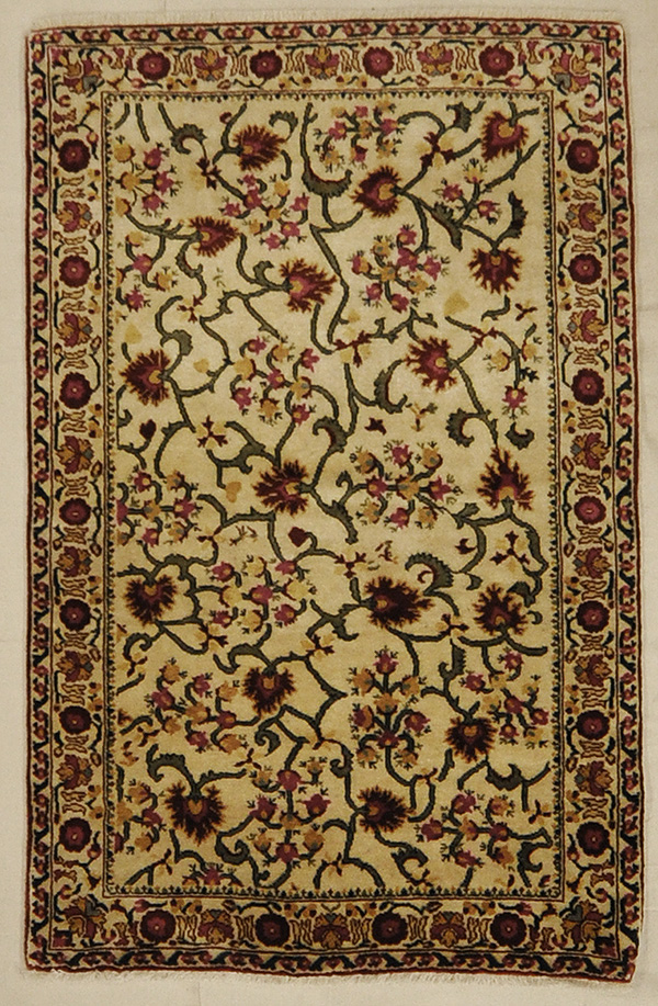 Finest Silk Ivory rugs and more oriental carpet 45254-