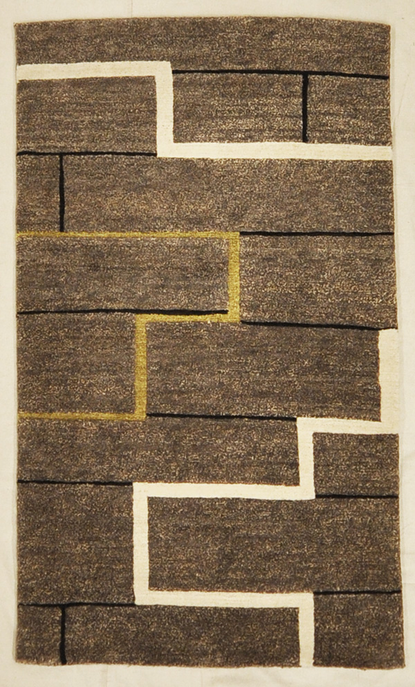Brown and White Tibetan rugs and more oriental carpet 45251-