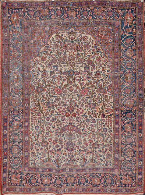 Antique Meditation Kashan Rug Rugs More