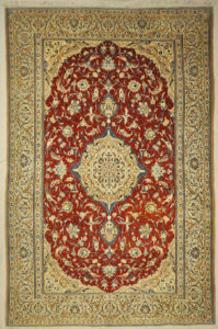 Persian Nain wool a& silk rugs are created in Iran in the town of Nain or in nearby areas. Style and design of the Nains is heavily influenced by the Isfahan weavers, but they are easily distinguishable by the colors used.