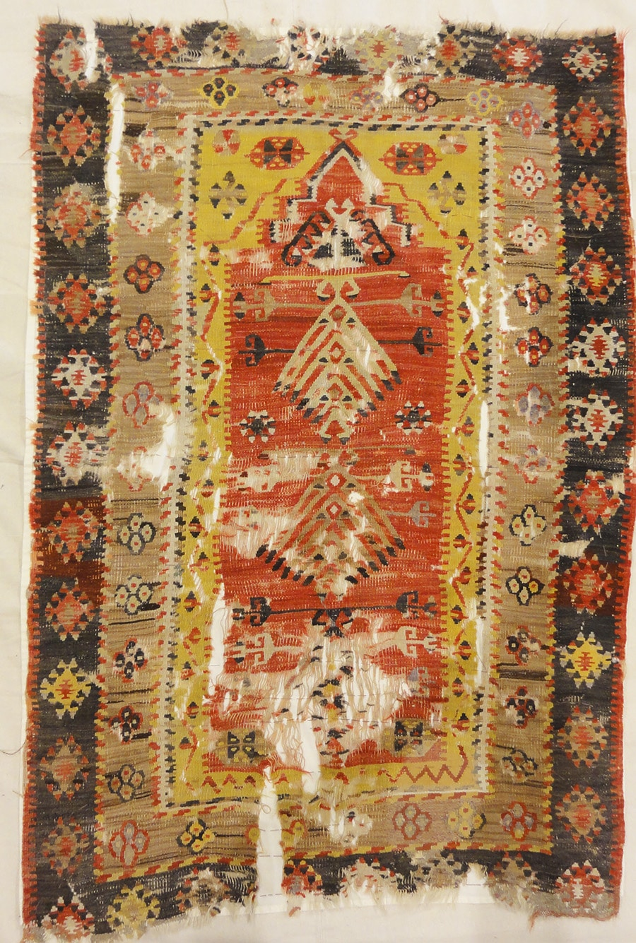 Vintage Turkish Kelim Prayer rug