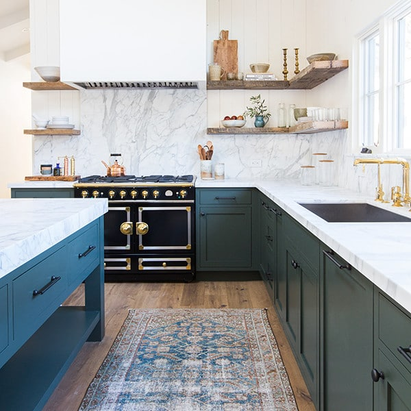 Have An All White Kitchen A Persian Rug Is Sure To Add Fun Pop While Showing Wear Might Be Unfortunate In Many Rugs Faded Gives It