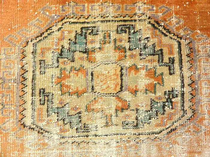 Antique Turkish Oushak Runner | Rugs and More | Santa Barbara Design 32795
