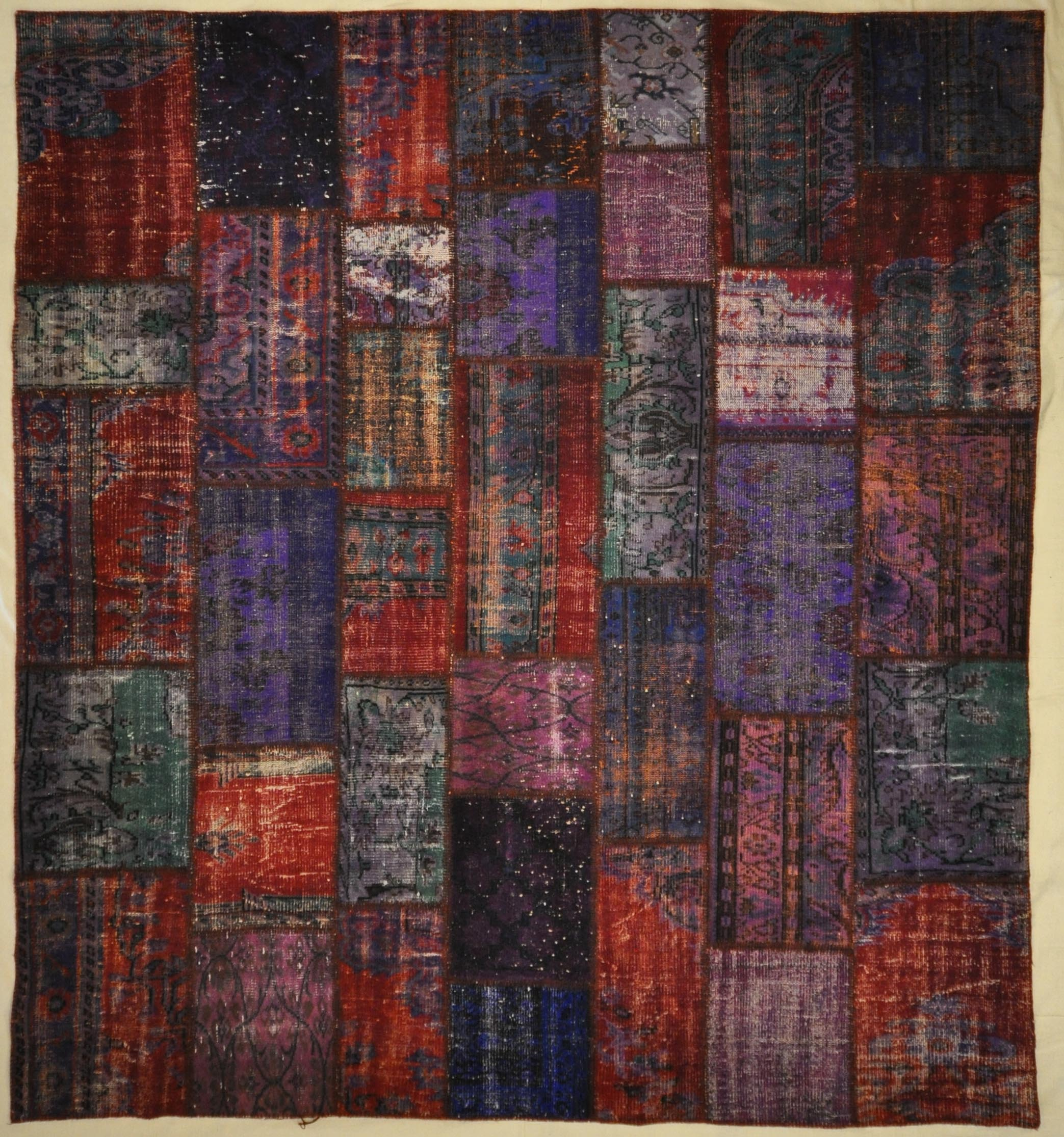 Purple Patchwork rugs and more oriental carpet 32810-