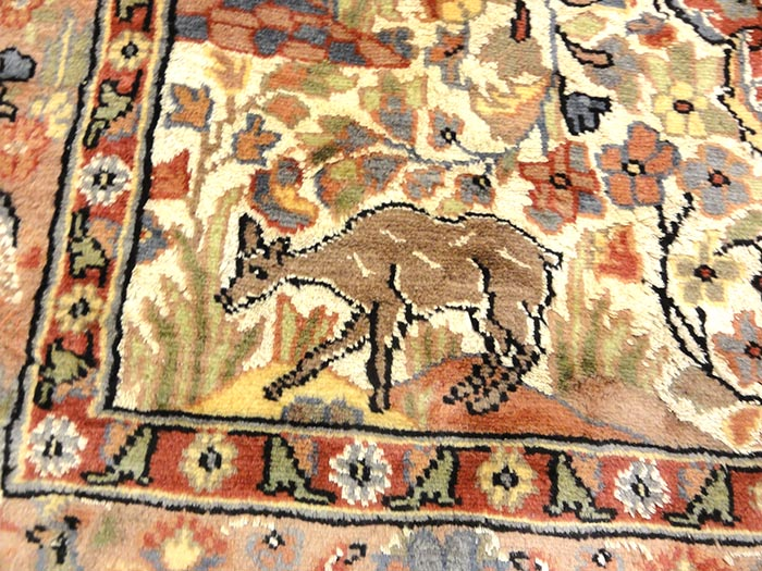 Fine Kashmiri Silk rug is a hand-knotted oriental rug from Kashmir. Kashmir rugs or carpets have intricate designs that are primarily oriental, floral style in a range of colors, sizes and quality.
