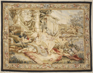 Antique romantic scene tapestry | Rugs and More | Santa Barbara Design 1