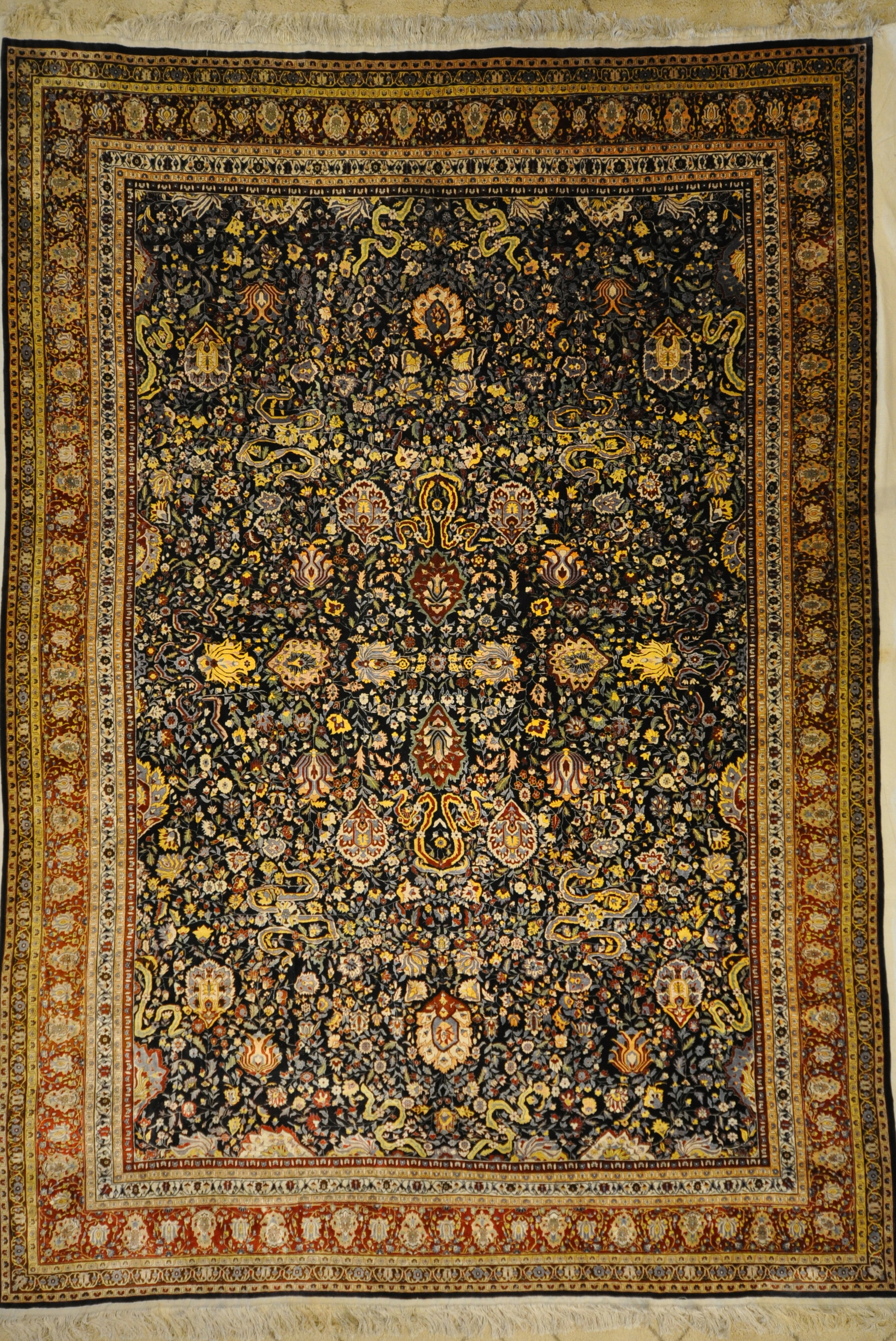 Vintage Silk Hereke rugs and more oriental carpet 33138-