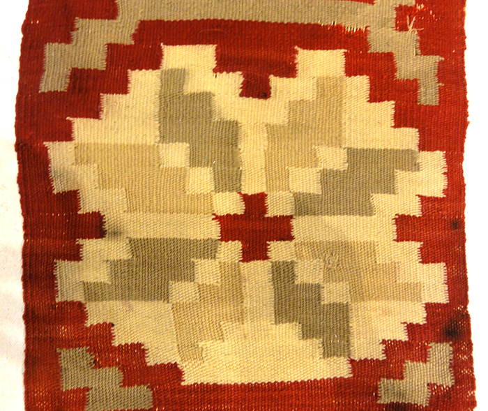 ThisAntique Swedish Textile is finely woven with natural wool.