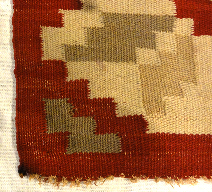 This Antique Swedish Textile is finely woven with natural wool.