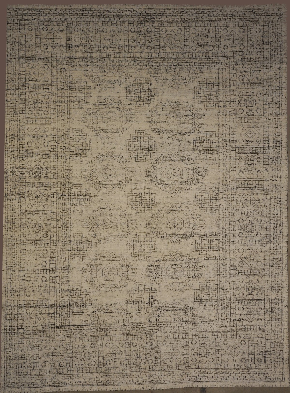 Modern White Black Rug rugs and more oriental carpet 33021-