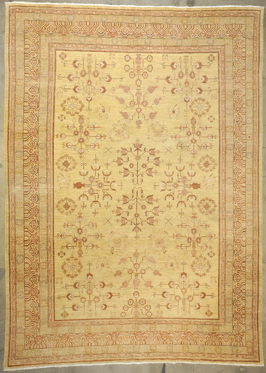 Vintage Khotan Yellow| Santa Barbara Design Center | Rugs & More | Oriental Carpets 33235