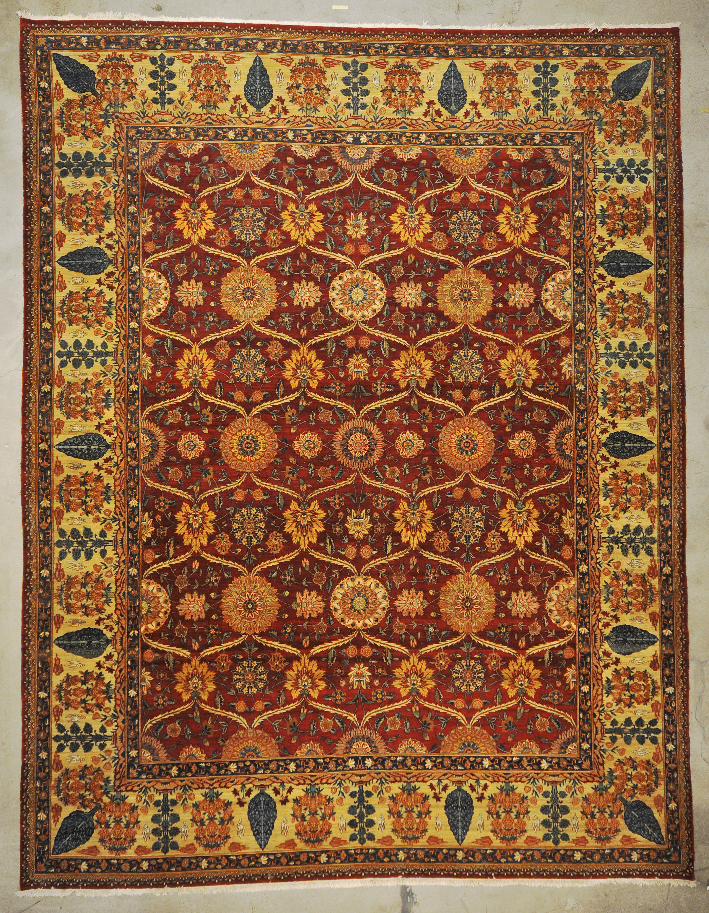 Vintage Mughal Pashmina rugs and more oriental carpet 33266-