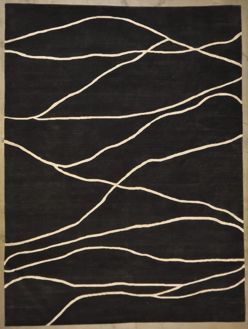 Modern Black rugs and more oriental carpet 33396-