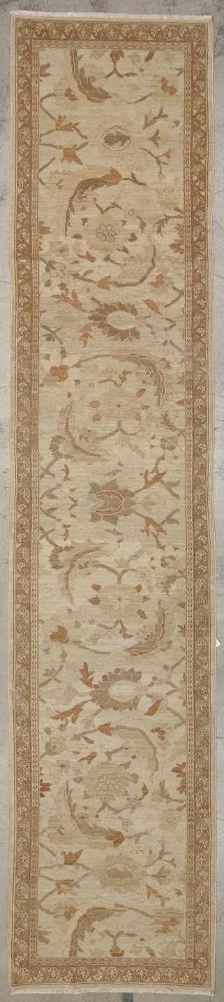 Fine Persian Sultanabad Runner hand made of natural wool and organic dyes 2'10 x 13'3