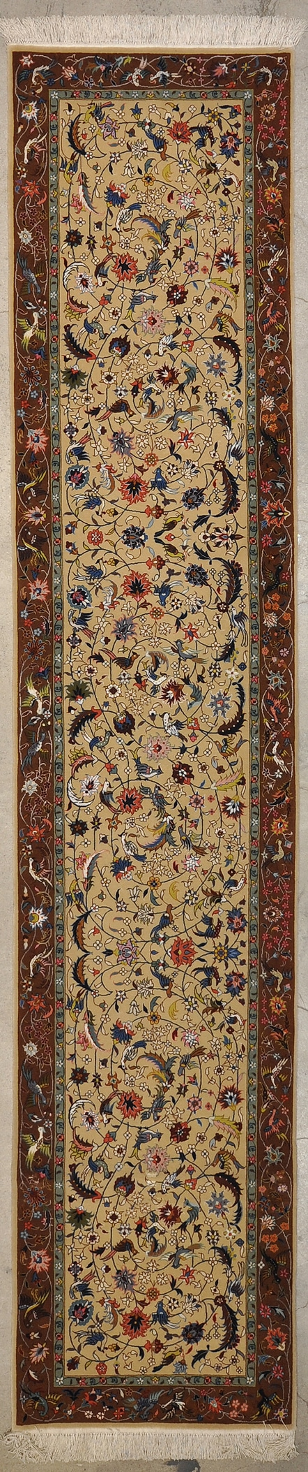 Fine Wool & Silk Tabriz Runner rugs and more oriental carpet 44003-