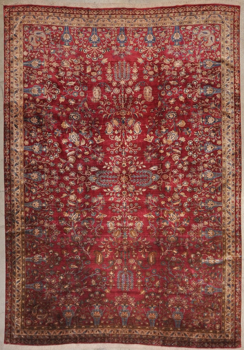 Silk Kashan Antique hand made from natural wool and organic dyes 7'1 x 10'2