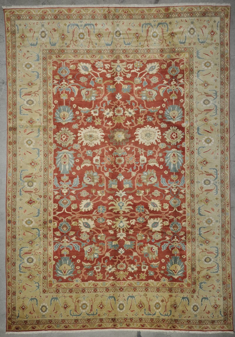 Vintage Oushak Angora rugs and more oriental carpet 33668-