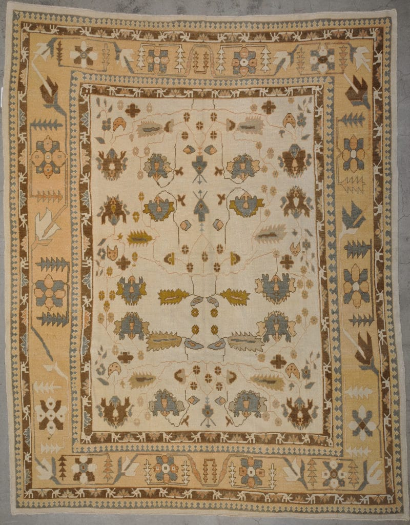 Vintage Turkish Oushak Angora rugs and more oriental carpet 33660-