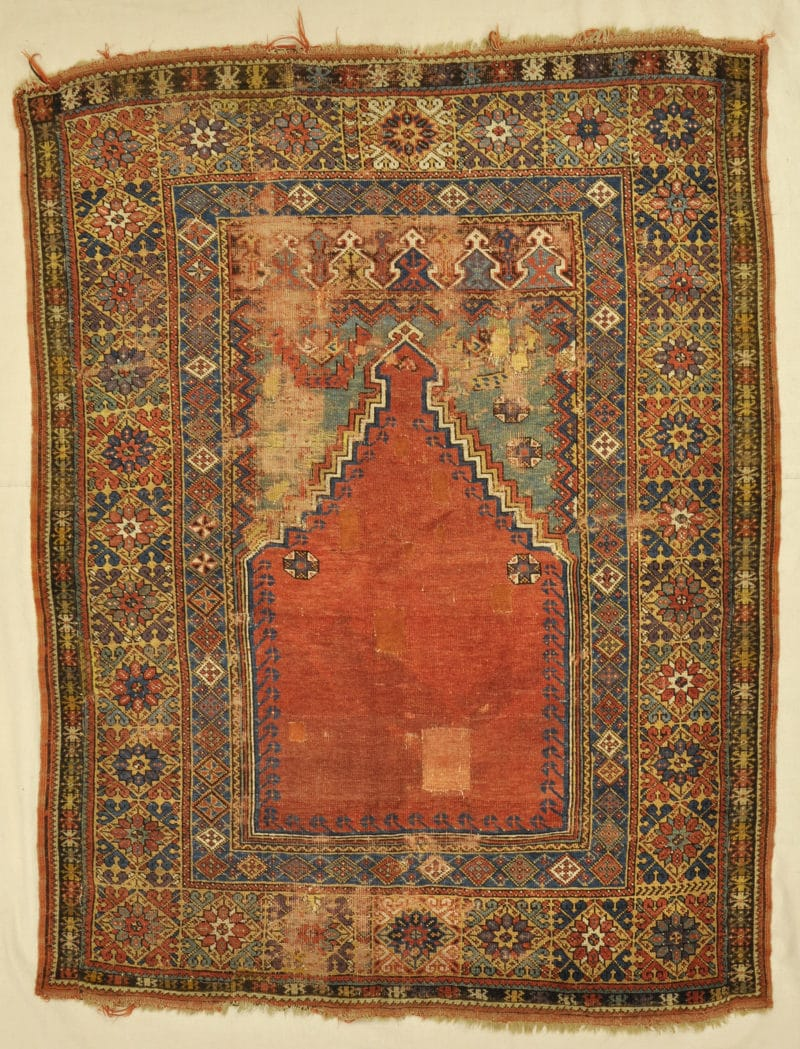 Antique Mujur Prayer rugs and more oriental carpet 33842-