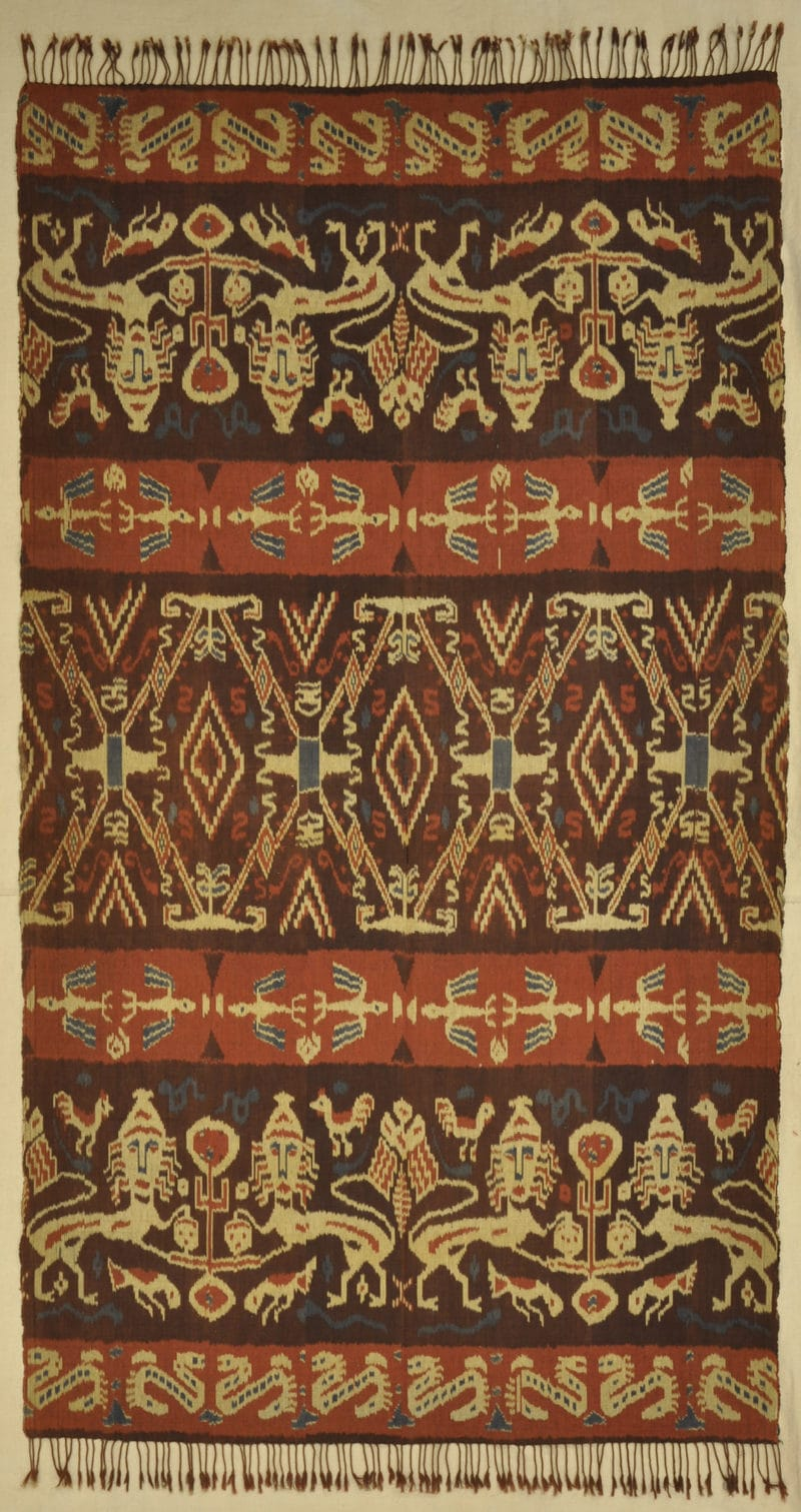 Antique Indonasian Ikat rugs and more oriental carpet 33855-