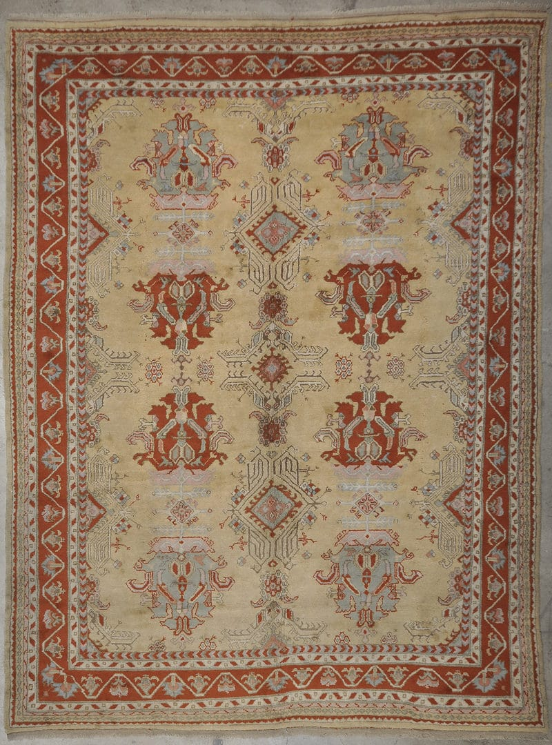Vintage Oushak rugs and more oriental carpet 33957-