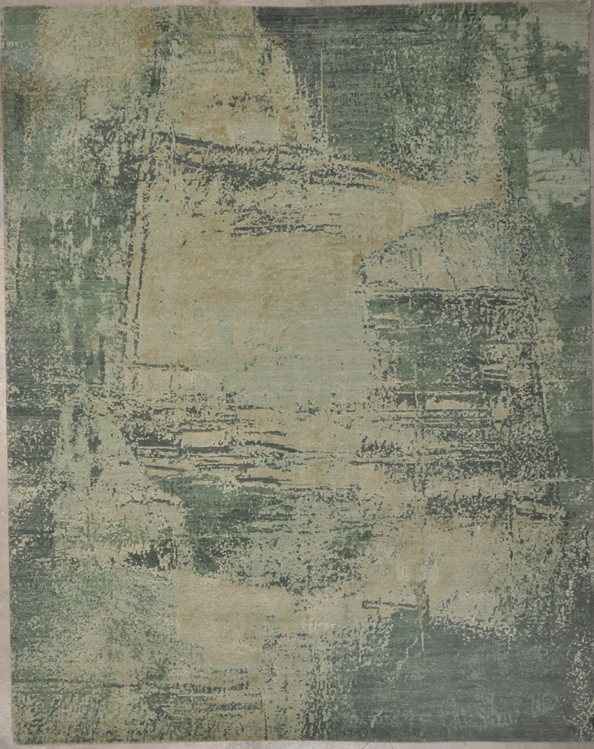 Modern Green rugs and more oriental carpet 34127-1