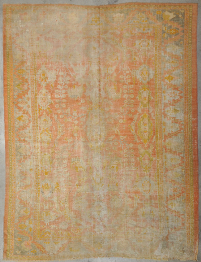 Antique Oushak rugs and more oriental carpet 34133-
