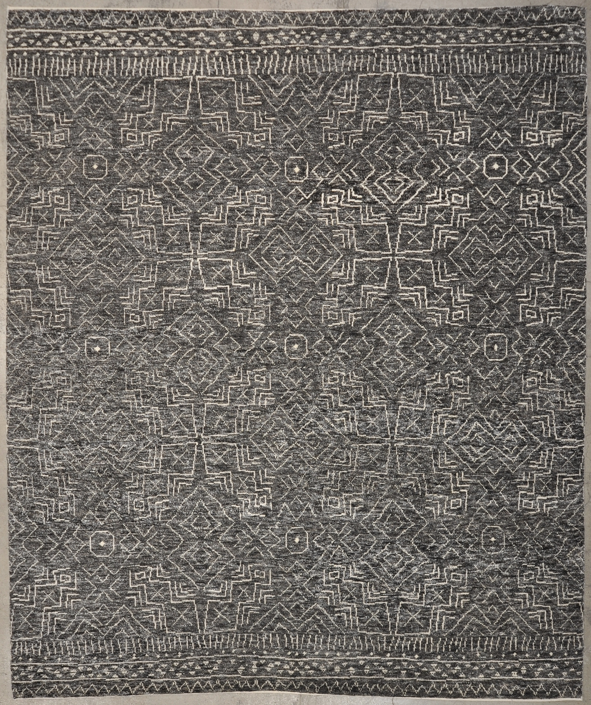 Modern Charcoal rugs and more oriental carpet 34149-