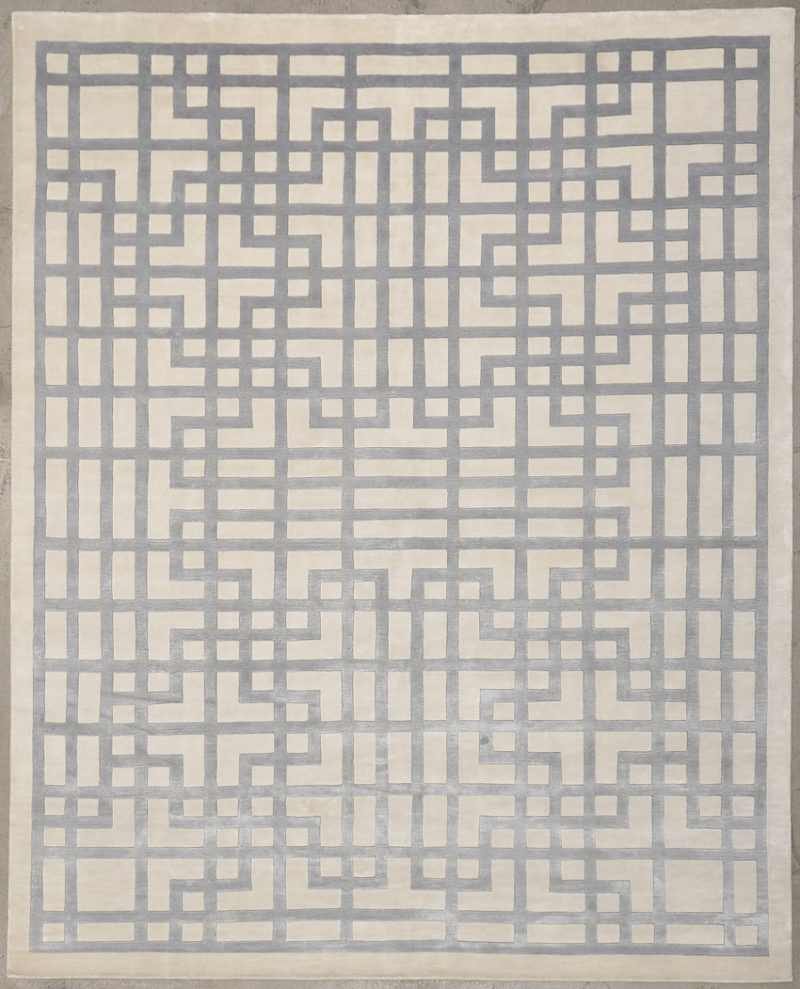 Modern White Peony rugs and more oriental carpet 34152-