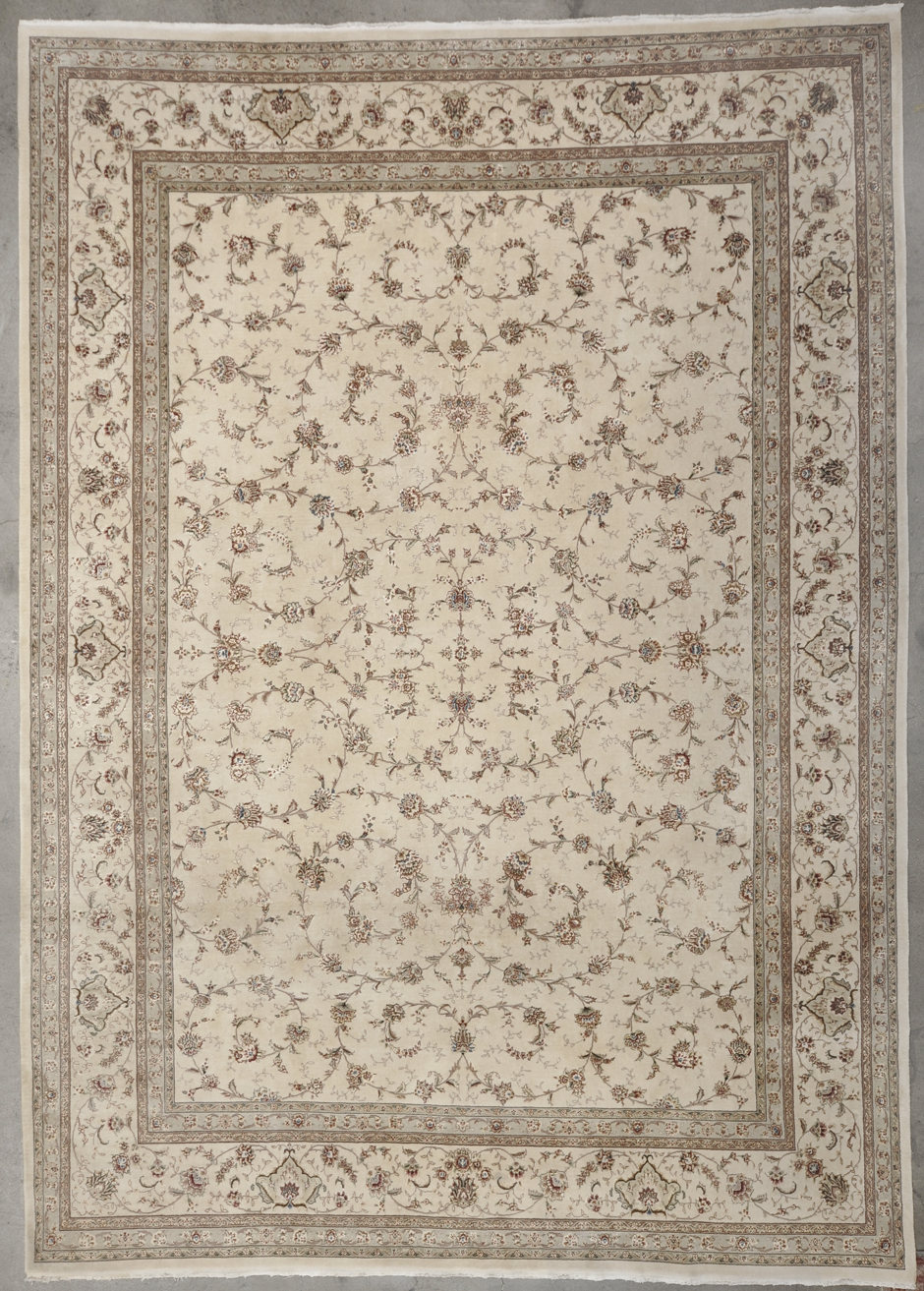 Vintage Tabriz Silk Flower rugs and more oriental carpet 34191-