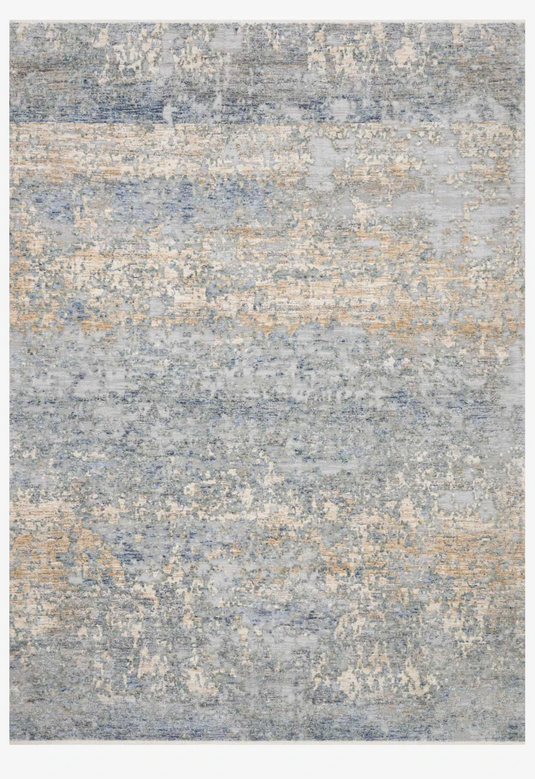 Modern Blue Gold rugs and more oriental carpet 34247-