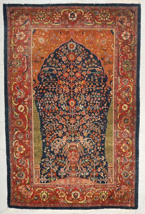 Rare Antique Mille Fleurs rugs and more -