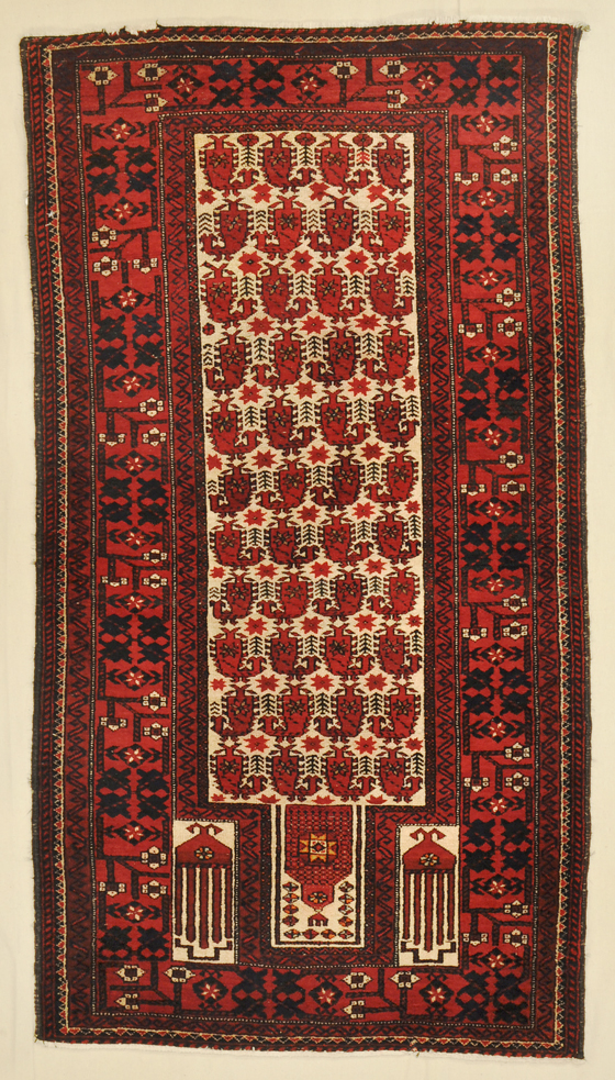 Antique Baluchi Prayer rugs and more -