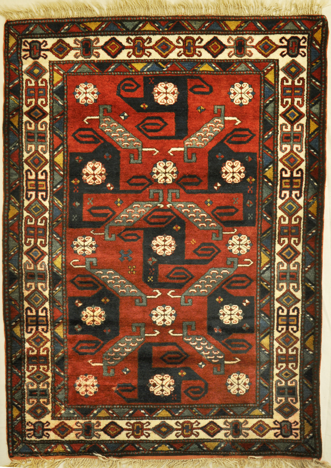 Vintage Kazak Pin Wheel rugs and more -